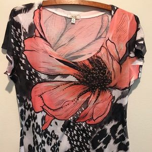 Cache Studded floral stretch blouse